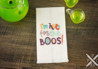 I'm Here For The Boos Tea Towel – Halloween Tea Towel