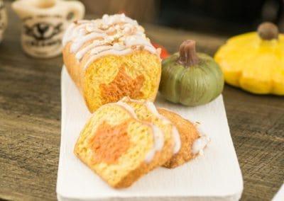 Hidden Leaf Iced Pumpkin Pound Cake
