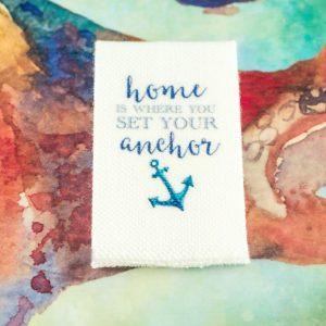 Home is Where You Set Your Anchor Nautical Tea Towel