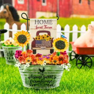 Home Sweet Farm Sunflowers Garden Flag