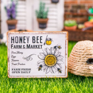 Honey Bee Farm & Market Sign