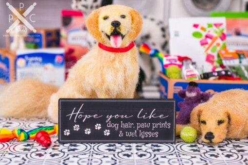 Dollhouse Miniature Hope You Like Dog Hair Sign - 1:12 Dollhouse Miniature Sign - Farmhouse Decor