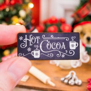 Hot Cocoa Chalkboard Sign