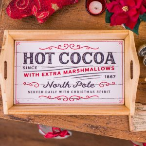 Hot Cocoa Wood Tray