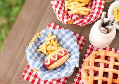 Hot Dog with Mustard and Fries