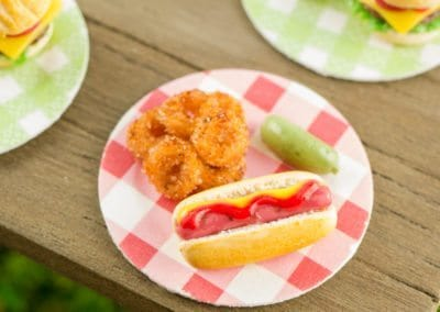 Hot Dog and Onion Rings