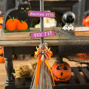 If The Broom Fits Fly It Halloween Witch's Broom Decor