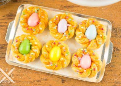 Italian Easter Bread on Baking Sheet