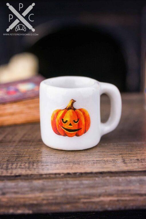 Dollhouse Miniature Jack-o-Lantern Halloween Mug