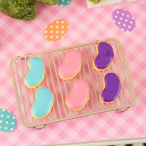Jelly Bean Easter Cookies – Half Dozen – 1:12 Dollhouse Miniature