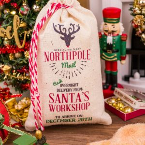 Jumbo Northpole Mail Santa Sack