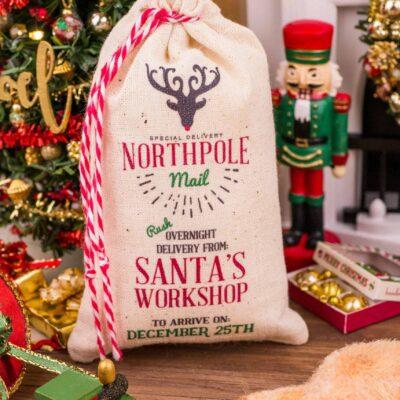 Dollhouse Miniature Jumbo Northpole Mail Santa Sack - 1:12 Dollhouse Miniature Christmas Decorations