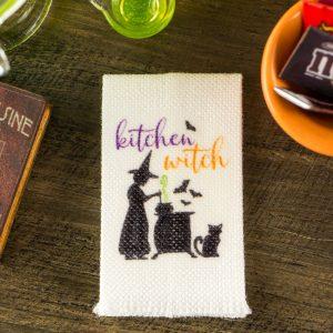 Kitchen Witch Tea Towel
