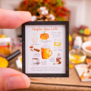Pumpkin Spice Latte Recipe Framed Art Print