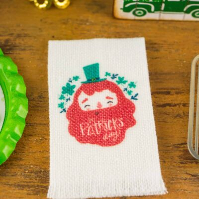 Dollhouse Miniature St. Patrick's Day Leprechaun Tea Towel