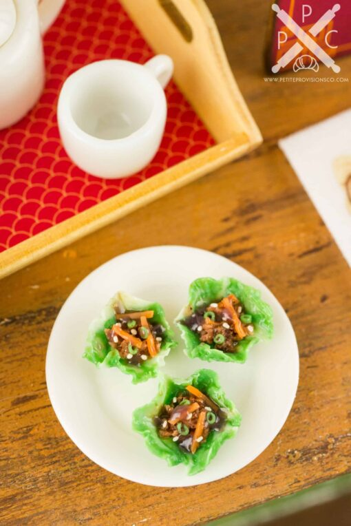 Dollhouse Miniature Asian Lettuce Wraps