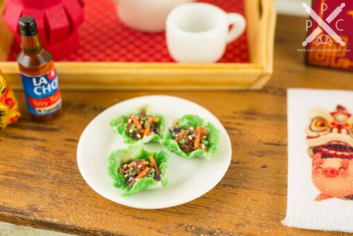 Dollhouse Miniature Asian Lettuce Wraps
