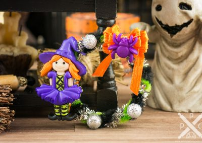 Little Witch Halloween Wreath