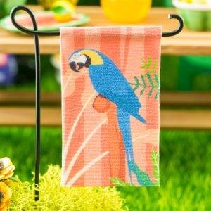 Macaw Garden Flag