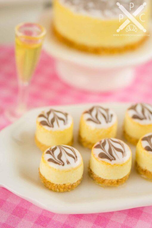 Dollhouse miniature marbled cheesecake bites