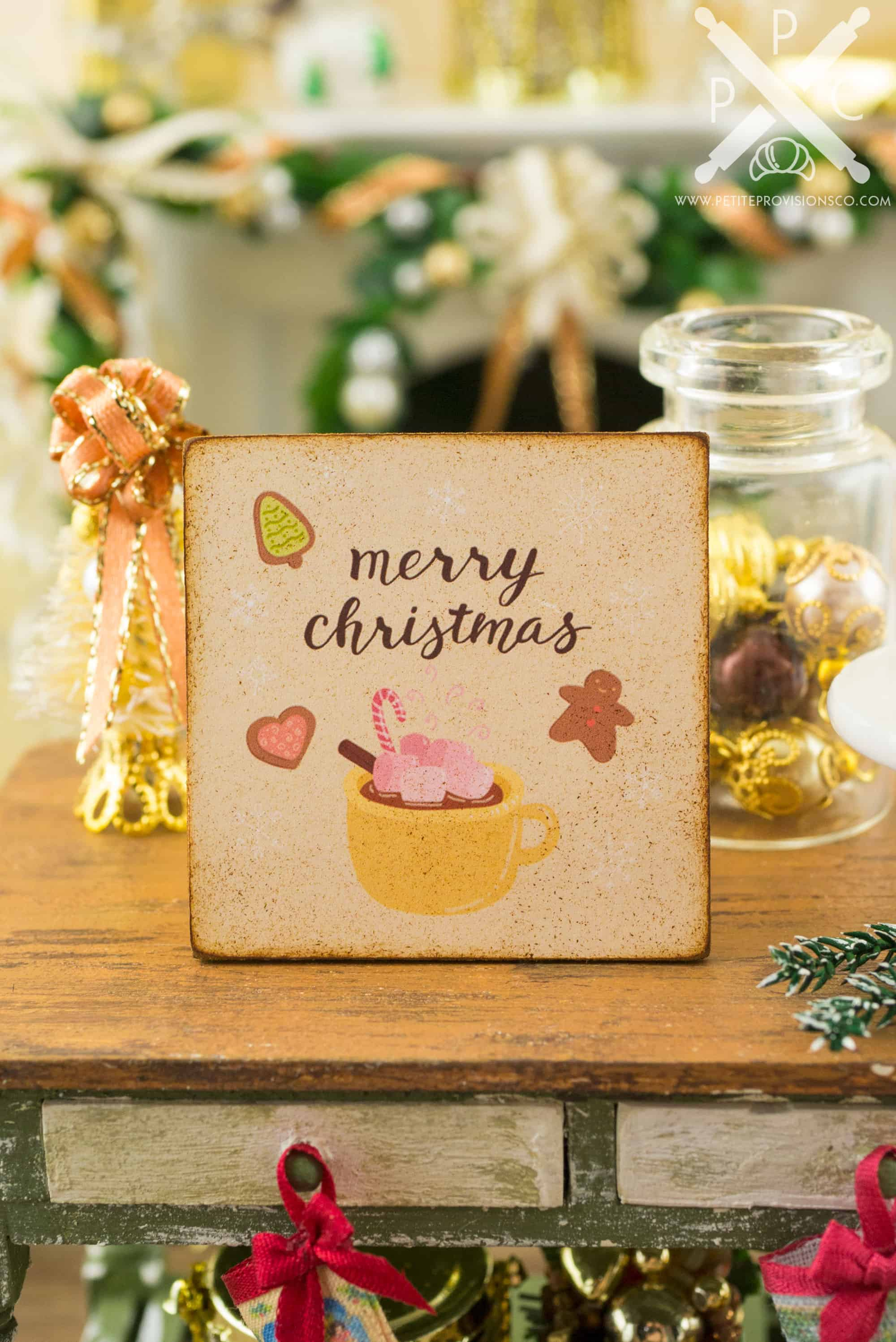 Merry Christmas Cookies And Cocoa Sign Decorative Christmas Sign