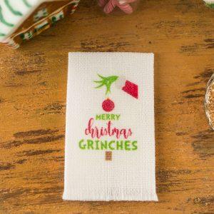 Merry Christmas Grinches Tea Towel