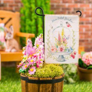 Mon Petit Jardin Spring Garden Flag