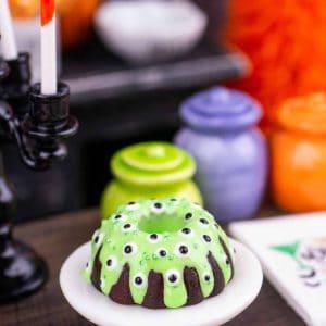 Halloween Monster Eyes Bundt Cake