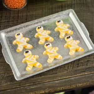Halloween Mummy Cookies on Tray