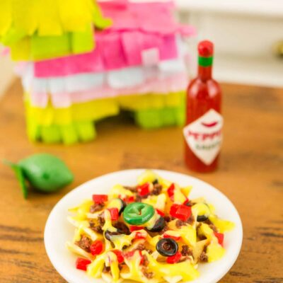 Dollhouse Miniature Loaded Nachos - 1:12 Dollhouse Miniature Nachos