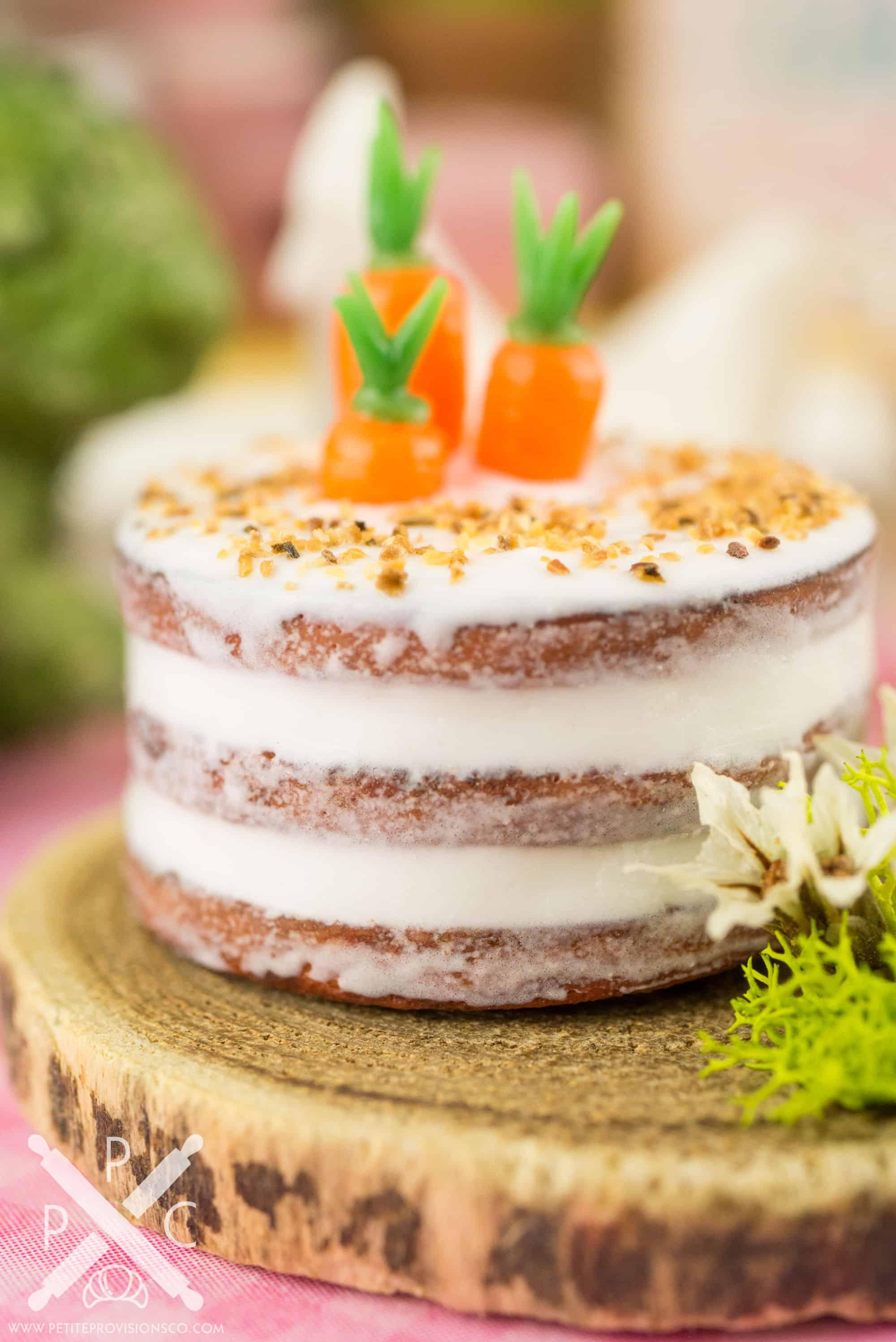 Naked Carrot Cake with Ginger Cream Frosting - Emily Ellyn