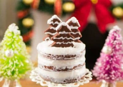 Gingerbread Naked Cake with Cake Stand