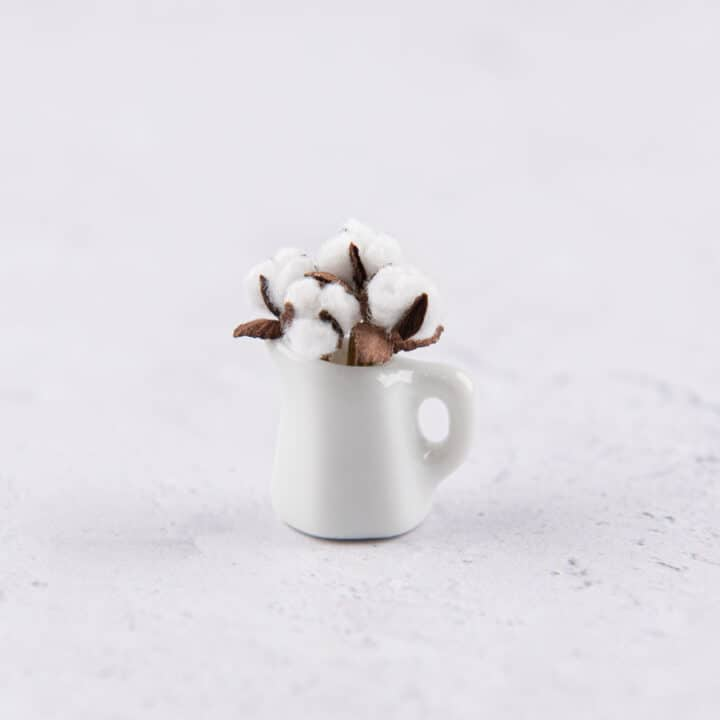 How to Make Miniature Natural Cotton Bolls