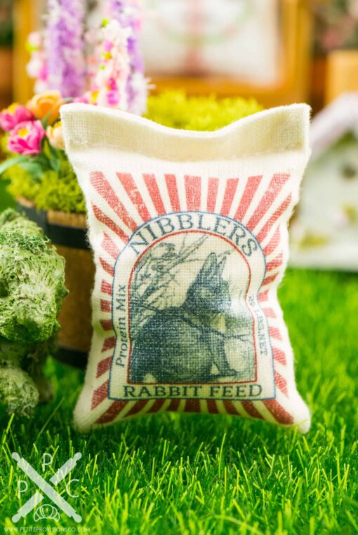 Dollhouse Miniature Nibblers Rabbit Feed Bag