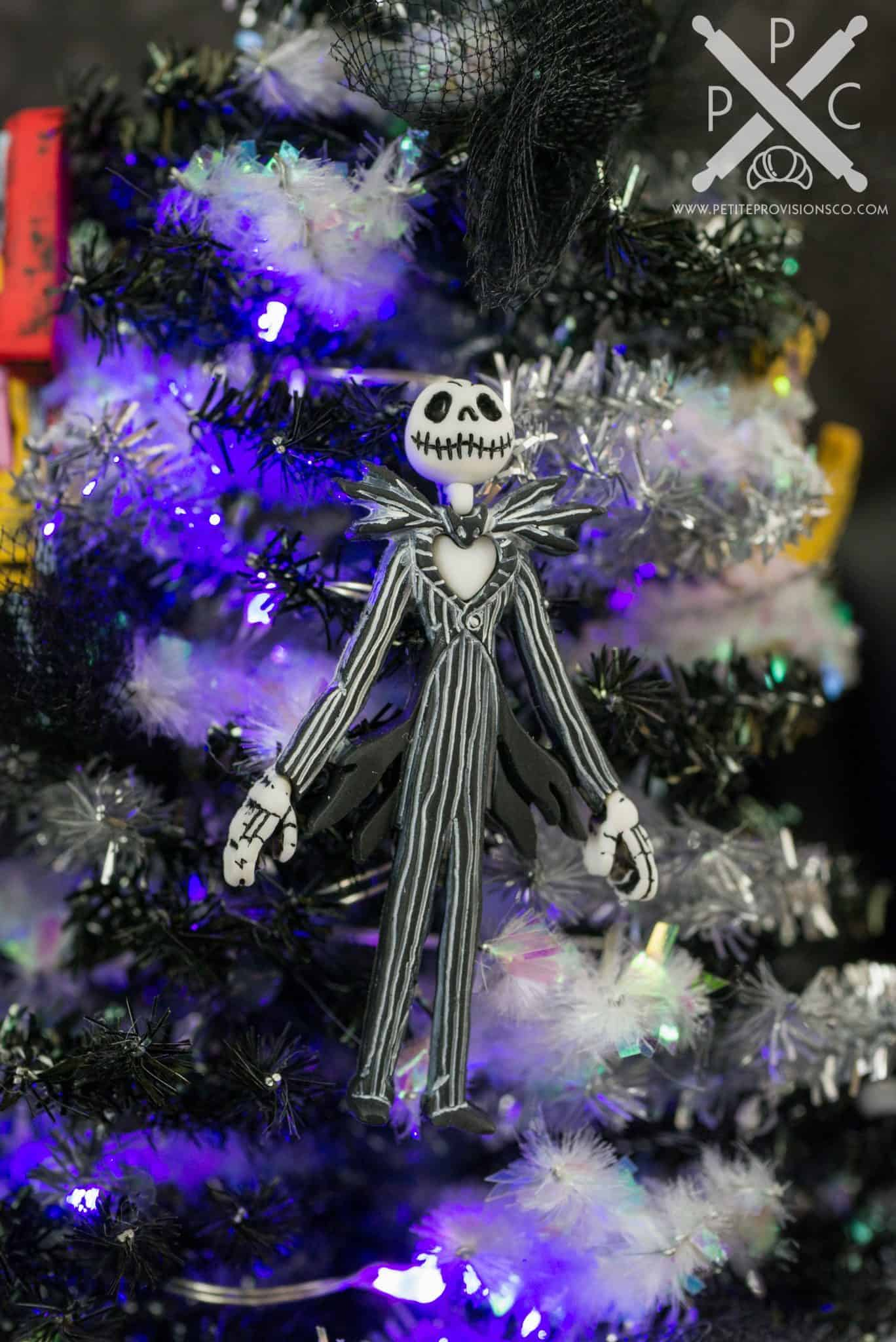 Miniature Nightmare Before Christmas Tinsel Halloween Tree with ...