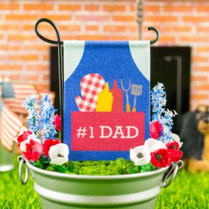#1 Dad Grilling Apron Father's Day Garden Flag