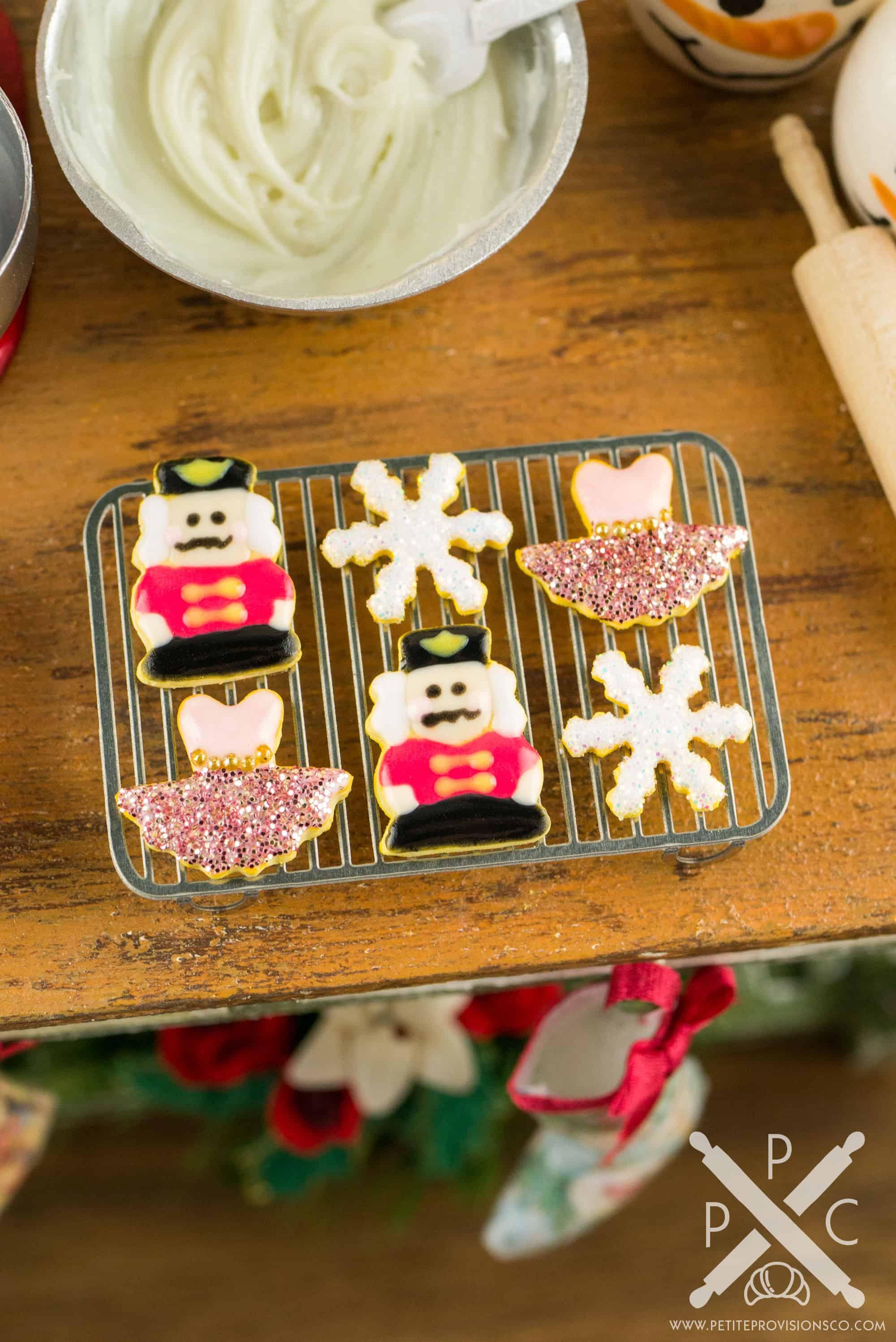 Dollhouse Miniature Nutcracker Suite Cookies Set 1 Half Dozen 1 12 Dollhouse Miniature The Petite Provisions Co