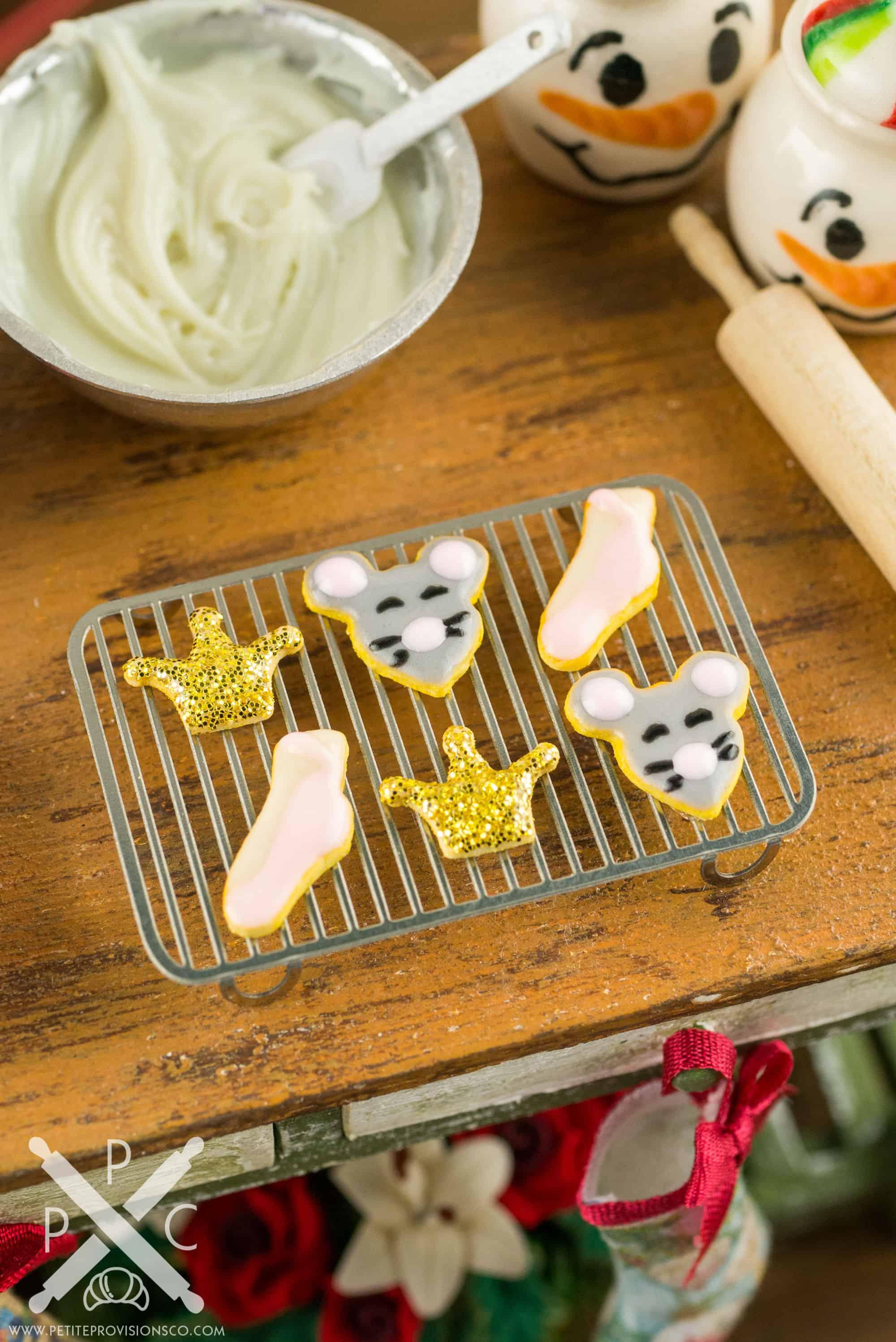 Dollhouse Miniature Nutcracker Suite Cookies Set 2 Half Dozen 1 12 Dollhouse Miniature The Petite Provisions Co