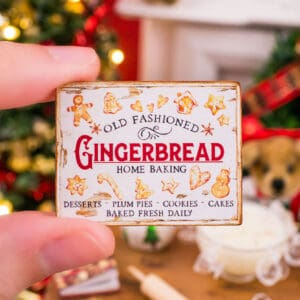 Old Fashioned Gingerbread Sign