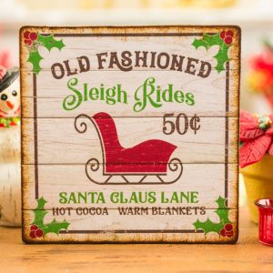 Old Fashioned Sleigh Rides Sign