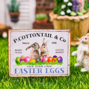 P. Cottontail & Co. Easter Eggs Sign