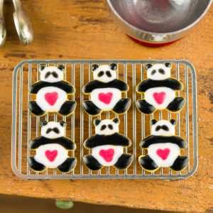 Valentine's Day Panda Bear Cookies – Half Dozen