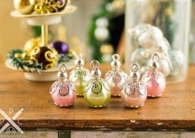 Pretty Pastel Christmas Ornaments – Set of 6