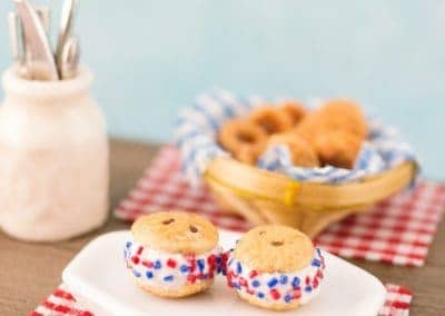 Patriotic Ice Cream Sandwiches