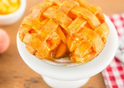 Peach Pie with Lattice Crust