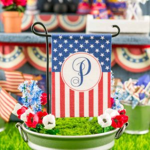 Personalized American Flag 4th of July Garden Flag