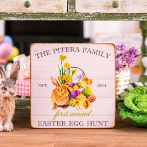 Personalized Easter Egg Hunt Sign