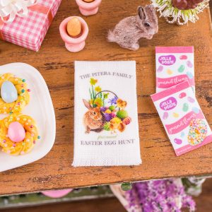 Personalized Easter Egg Hunt Tea Towel