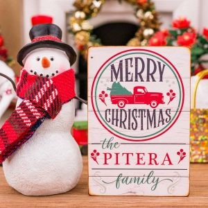Personalized Merry Christmas Porch Sign