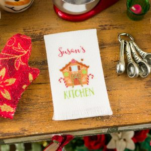 Personalized Gingerbread House Kitchen Tea Towel